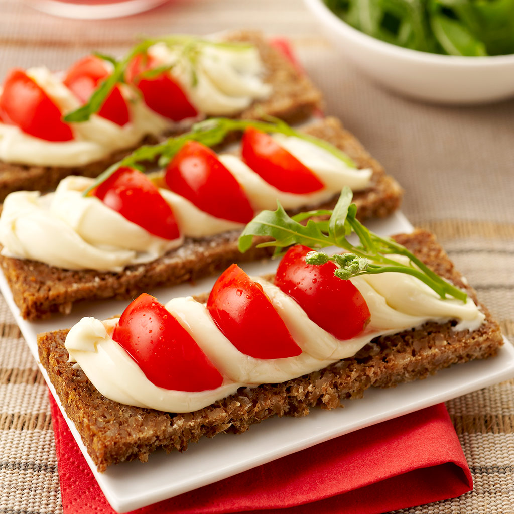Tartines de pain de seigle au Maredsous® Light